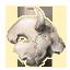 Ebon Dwarven Wolf Head